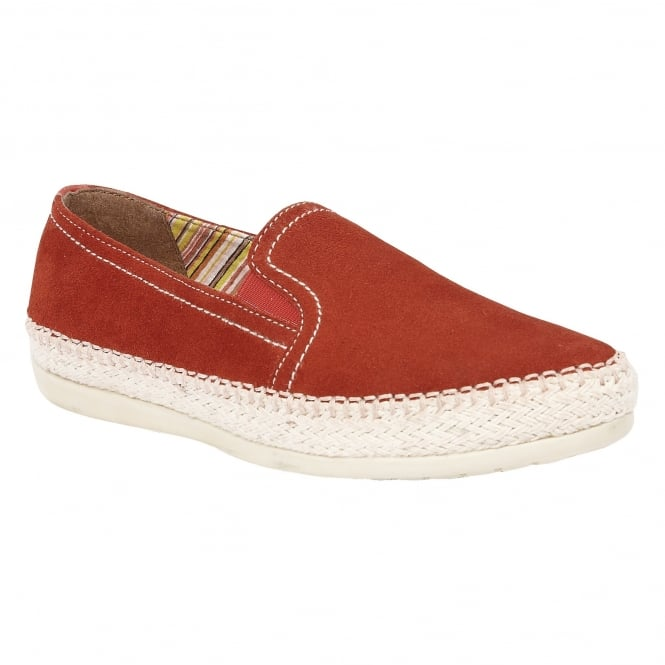 Lotus Caputi Burnt Orange Suede Espadrilles