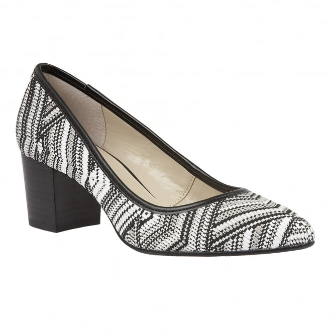 Lotus Cascades Black-Multi Rafia Pointed-Toe Court Shoes