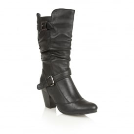 Cassius Black Knee-High Boots