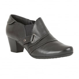 Celt Black Leather Shoe-Boots