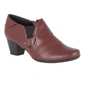 Celt Burgundy Leather Shoe-Boots