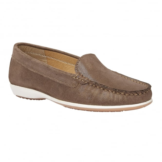 Lotus Conforti Bronze Shimmer Leather Loafers