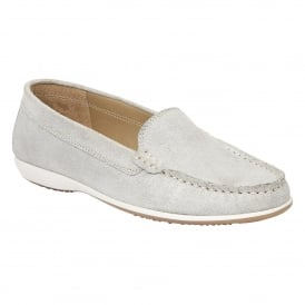 Conforti Silver Shimmer Leather Loafers