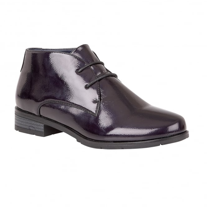 Lotus Emelia Purple Crinkle Shiny Lace-Up Shoes
