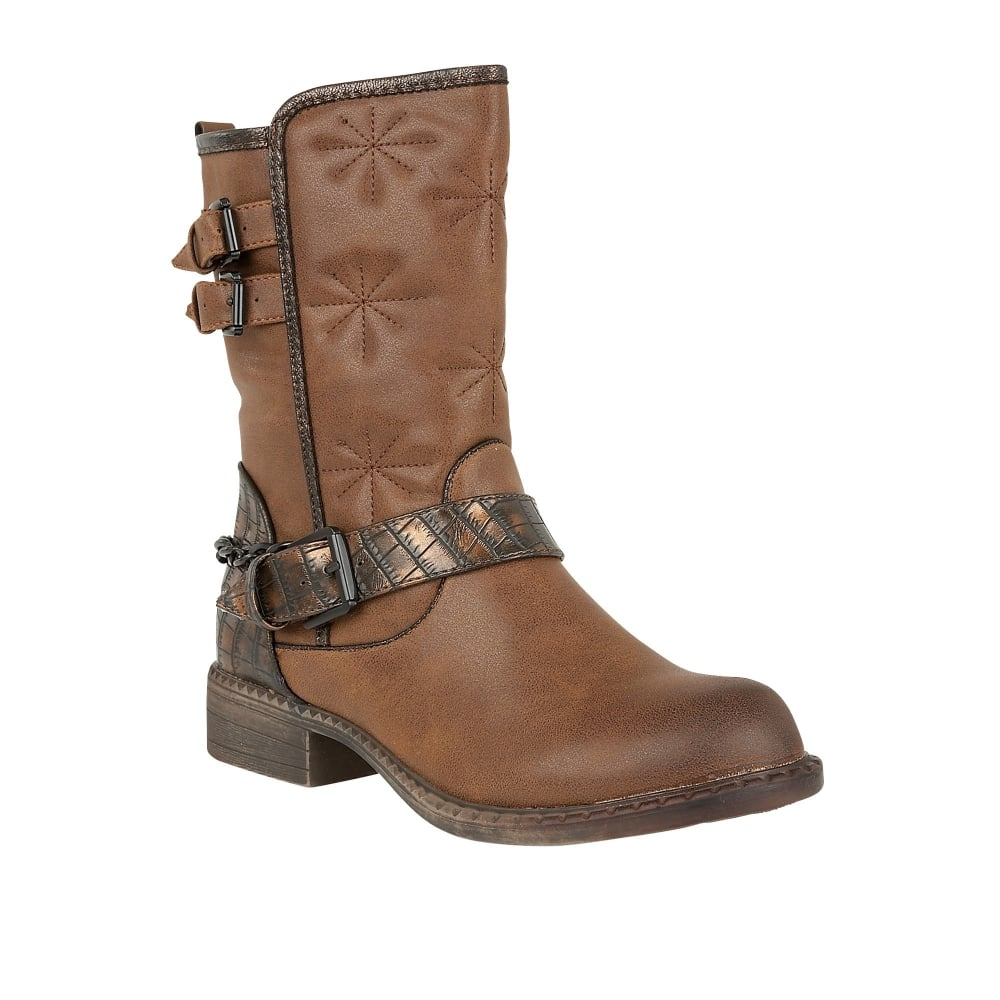 lotus giosetta brown mid calf boots boots from lotus