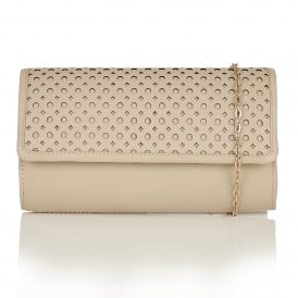 Cellini Natural Leather Clutch Bag
