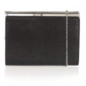 Ida Black Shimmer Clutch Bag