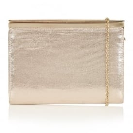 Ida Gold Shimmer Clutch Bag