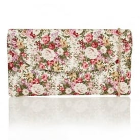 Jayla Pink Multi Floral Clutch Bag