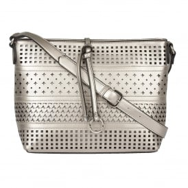 Houston Pewter Metallic Shoulder Bag