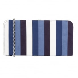Sheraton Blue Multi Microfibre Clutch Bag