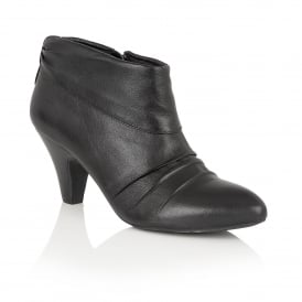 Hickory Black Leather Shoe-Boots