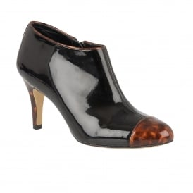 Ilima Black Shiny & Brown Tortoiseshell Shoe-Boots