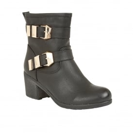 Keely Black Heeled Ankle Boots