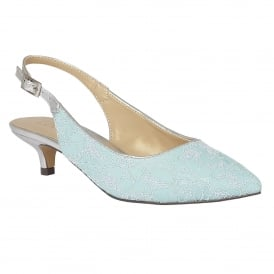 Kohar Aqua-Lace Textile Sling-Back Court Shoes