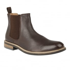 Men's Blakesley Chocolate Leather Chelsea Boots