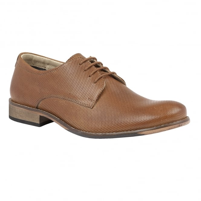 Lotus Men's Camden Tan Leather Lace-Up Shoes