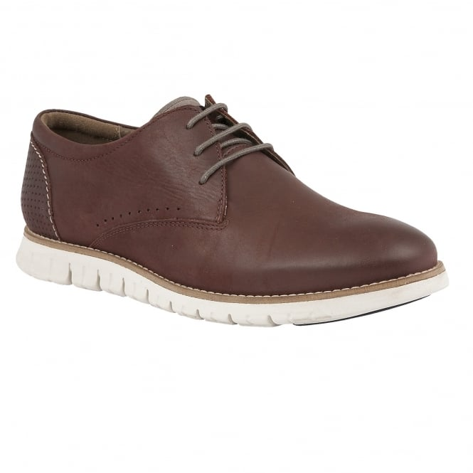 Lotus Men's Chadwick Aubergine Leather Lace-Up Shoes