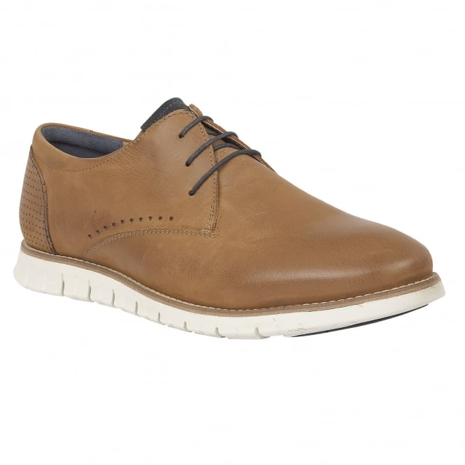 Lotus Men's Chadwick Tan Leather Lace-Up Shoes