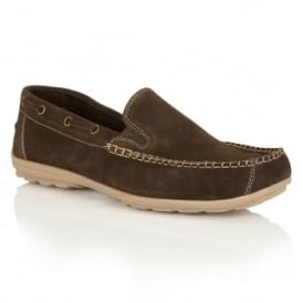 Men's Colby Brown Suede Slip-On Loafers