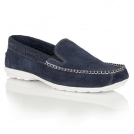 Men's Colby Navy Suede Slip-On Loafers