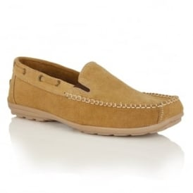 Men's Colby Tan Suede Slip-On Loafers
