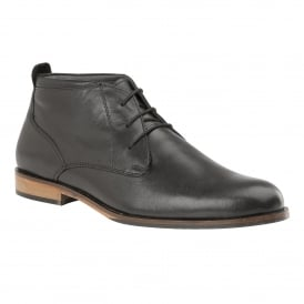 Men's Colworth Black Leather Lace-Up Shoes