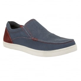 Men's Crossley Denim Blue Slip-On Shoes