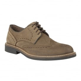Men's Danesfield Khaki Waxy Leather Brogues