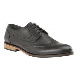 Men's Denford Black Leather Brogues