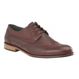 Men's Denford Oxblood Leather Brogues