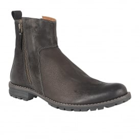 Men's Dunnerdale Black Leather Ankle Boots