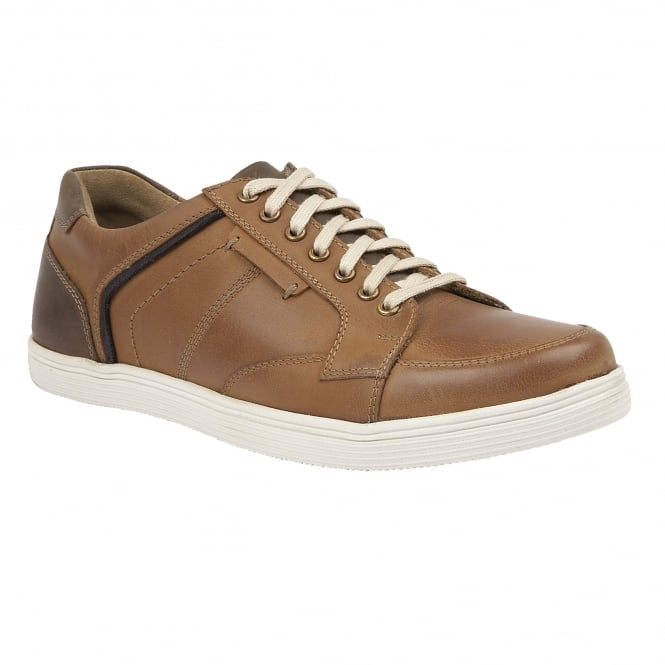 Lotus Men's Edgington Tan Leather Lace-Up Trainers