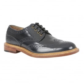 Men's Edward Navy Welted Lace-Up Shoes