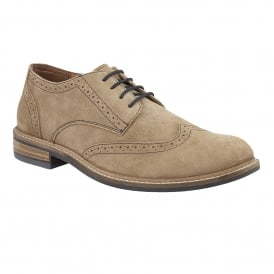 Men's Garratt Natural Suede Brogues