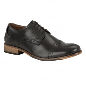 Men's Hargreaves Black Leather Lace-Up Brogues