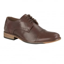 Men's Hargreaves Brown Leather Lace-Up Brogues