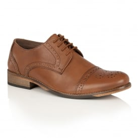 Men's Hargreaves Burnished Tan Leather Lace-Up Brogues