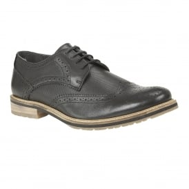 Men's Hatch Black Leather Brogues