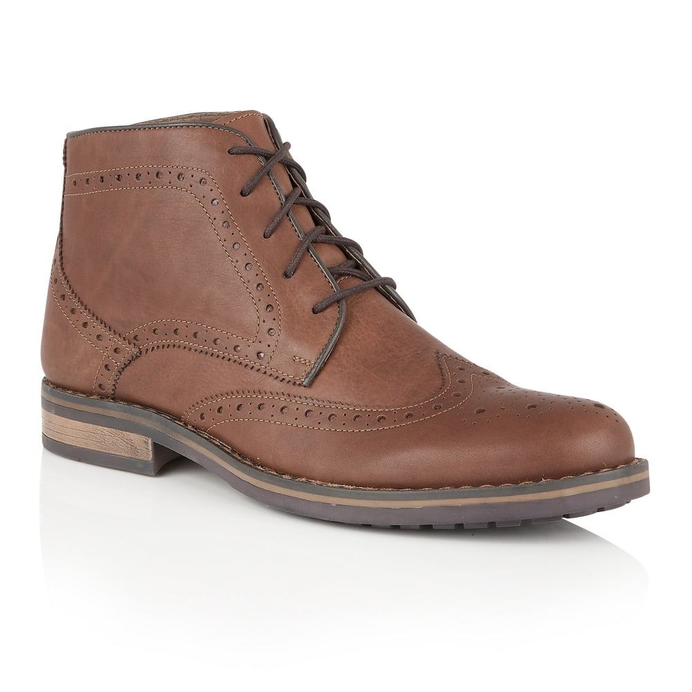 lotus s hawthorn brown leather ankle boots s