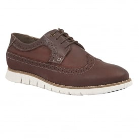 Men's Holloway Aubergine Leather Brogues