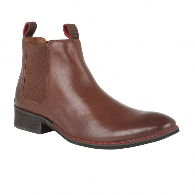 Lotus Men's Jamison Brown Leather Ankle Boots