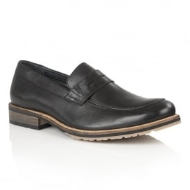 Men's Jensen Black Leather Loafers