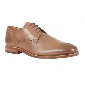 Men's Jeremiah Brown Leather Lace-Up Brogues