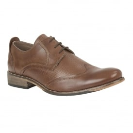 Men's Kade Brown Leather Lace-Up Shoes