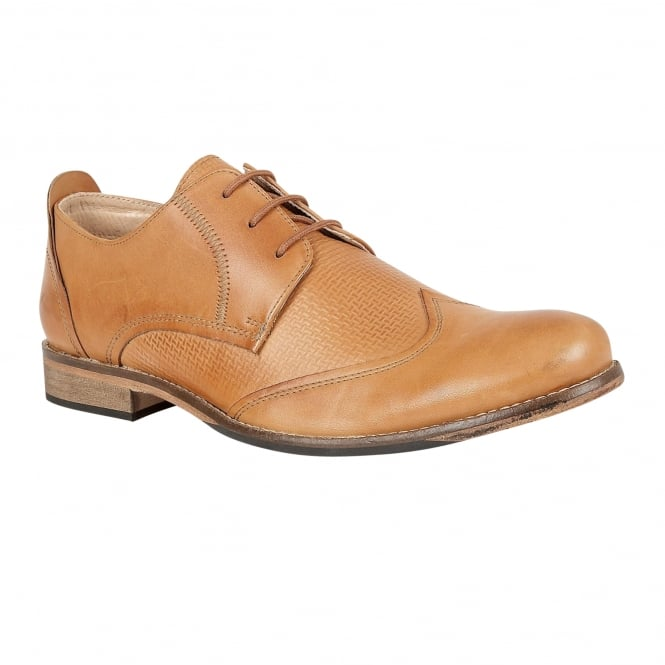 Lotus Men's Kade Tan Burnished Leather Lace-Up Shoes