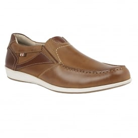 Men's Kindon Chestnut Leather Loafers