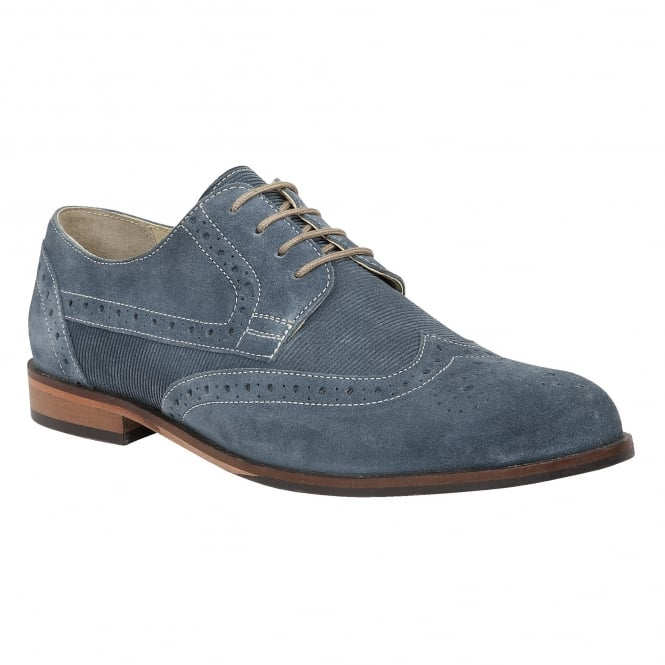 Lotus Men's Larkin Blue Suede Brogues