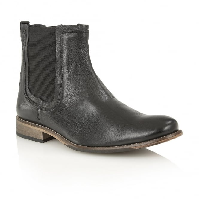 Lotus Men's Shasta Black Leather Slip-On Boots