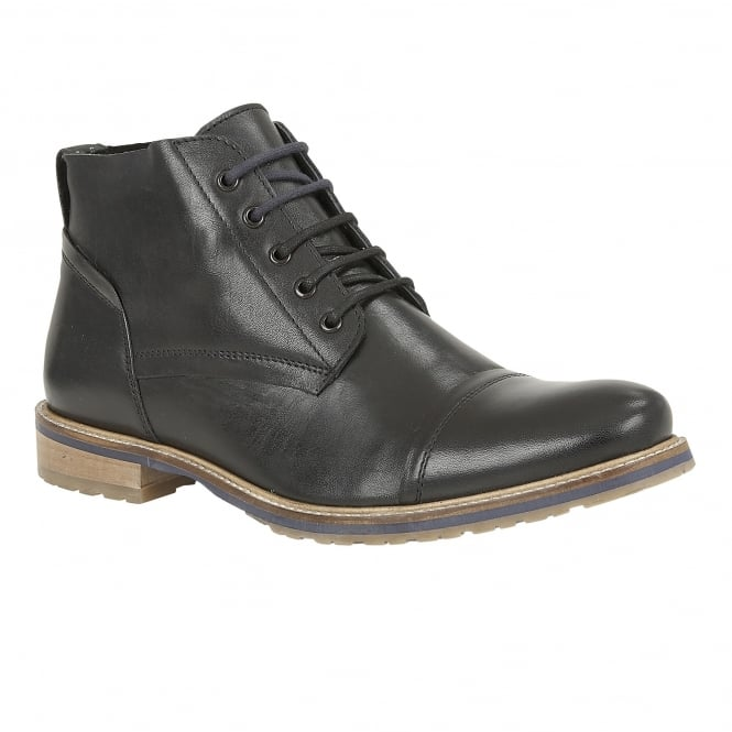 Lotus Men's Wheeler Black Leather Boots